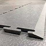 Industrial K490 imbriqués Garage Atelier Gym vente au détail en PVC pour carrelage de sol Rampes, Gris Foncé
