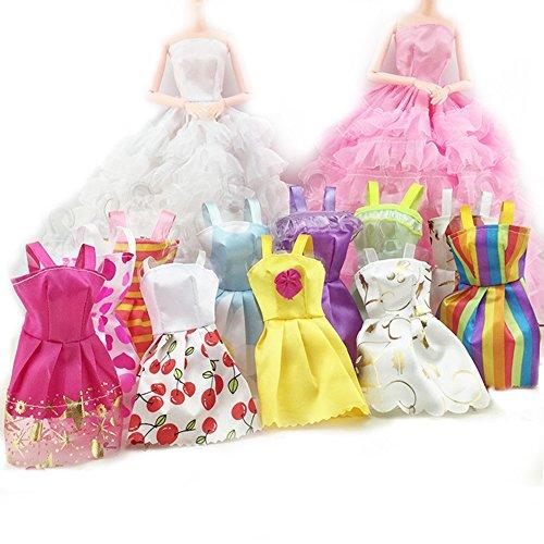 asiv-5-parti-robes-et-12-mini-jupes-vetements-et-10-paires-de-chaussures-pour-barbie-poupee-au-hasar