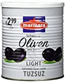 Marmara Schwarze Oliven, salzarm, 4er Pack (4 x 800 g)