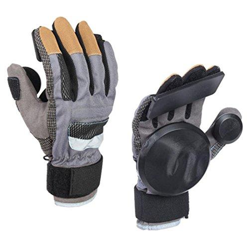 Glield Skateboard Gloves / Erwachsene Freeride Grip Slid Skateboard Handschuhe mit Foam Palm CBST02 (schwarz, M) (Longboard Skateboard Slide Handschuhe)