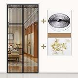 Klett Moskitovorhang Magnetische Bildschirm Tür Sommer Bildschirm Fenster Belüftung Haushalts Schlafzimmer abgeschnitten Upscale Free Punch,B_90*205cm