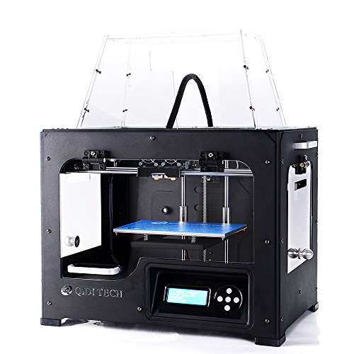 Price comparison product image QIDI TECHNOLOGY Dual Extruder Desktop 3D Printer QIDI TECH I, Fully Metal Frame Structure - Acrylic Cover, W / 2 Free Filaments