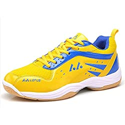 Mr. LQ - Bádminton profesional / tenis / zapatillas de tenis de mesa , yellow , 43