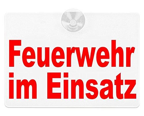 lieferbar in DREI Gr/ö/ßen 65 x 19 cm Schild magnetisch Lohofol Magnetschild Feuerwehr IM Einsatz