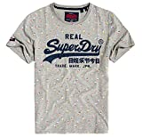 Superdry Vintage Logo AOP Mid tee Camiseta de Tirantes, Gris (Grey Marl 07q), X-Large para Hombre