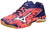 Mizuno Herren Wave Mirage Tennisschuhe, Multicolore (Fierycoral/White/Twilightblue), 47 EU
