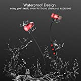 Plustore Wireless Earphones Bluetooth 4.1 Stereo Magnetic Headphones Built-in Mic With Metal Housing - Rose Red