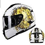 Motorradhelm Männer und Frauen Halb Helm Elektro Auto Helm Universal Doppelobjektiv Sommersaison (Farbe : 05, größe : XXL)