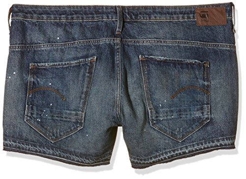 G-STAR RAW Damen Short Arc Blau (Dark Aged Restored )