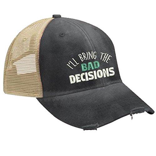 Piper Lou - I'll Bring The Bad Decisions Trucker Hut mit Snapback Gehäuse - Schwarz - Einheitsgröße -