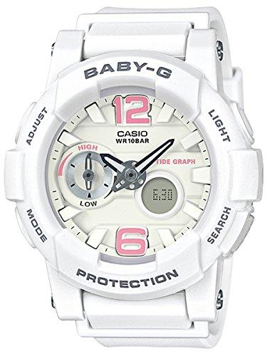 Casio Baby-G Women White BGA180BE-7B Resin Ana-Digi Watch