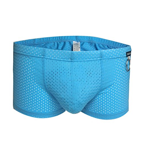 Hommes respirant Mesh Cale?on taille basse 3D U Convex p¨¦nis Cale?on Sexy Sous-v¨ºtements