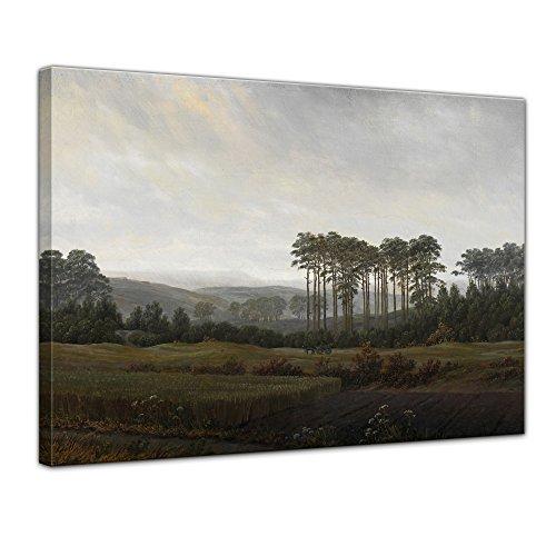 Leinwandbild Caspar David Friedrich Der Nachmittag - 50x40cm quer - Wandbild Alte Meister Kunstdruck Bild auf Leinwand Berühmte Gemälde - Nachmittags Leinwand