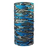 ebos Qualitatives Multifunktionstuch | Schlauchtuch, Multischal, Bandana, Halstuch, Kopftuch | Ideal als Snowboardtuch, Fashion, etc! | in verschiedenen Designs erhältlich (Camouflage blau)