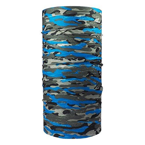 ebos Qualitatives Multifunktionstuch   Schlauchtuch, Multischal, Bandana, Halstuch, Kopftuch   Ideal als Snowboardtuch, Fashion, etc!   in verschiedenen Designs erhältlich (Camouflage blau)
