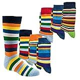 Kinder Socken,6 Pack,Uni oder Ringel,Schadstoffgeprüfte Textilien nach Öko-Tex Standard 100