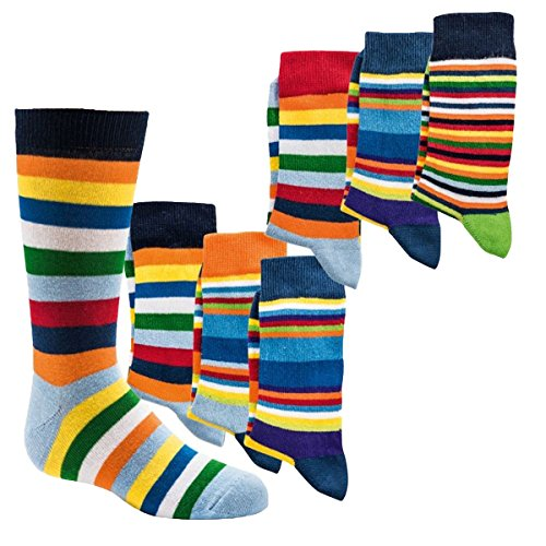 Socks 4 Fun Jungen Socken,6Pack,23/26,Ringel
