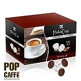 100 CAPSULE POP CAFFÈ MOKA CUP MISCELA 4 DECAFFEIANTO COMPATIBILI UNO SYSTEM ILLY KIMBO