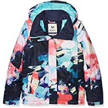 Roxy JERGTJ03033, Chaqueta de Nieve Para Niñas, Multicolor (Emberglow Pattern_1), ...