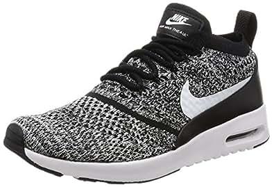 Nike Air Max Thea Ultra Flyknit, Baskets Femme, Noir (Black/White), 36 EU