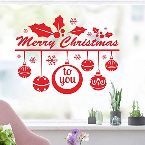Wandaufkleber Weihnachten Wandaufkleber Große Shop Mall Kleidung Kaffee Glas Fenster Aufkleber Schneeflocke Schneemann Dekoration Aufkleber