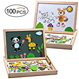 MOVEONSTEP Magnetic Puzzles Educational Wooden Toy 100 PCS - Best Reviews Guide