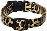 Sassy Hunde Wear 10–35,6cm Natur Leopard Hundehalsband, kleine