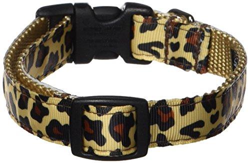 Sassy Dog Wear Hundehalsband, Leopardenmuster, Größe S, 25,4-35,6 cm (Hundehalsband Leopard)