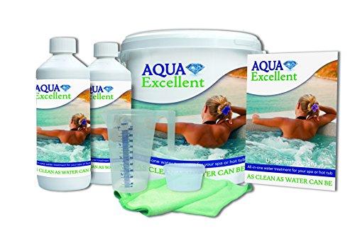 Aqua Excellent Wasserpflegeset groß für Hottubs inkl. Reinigungstabletten