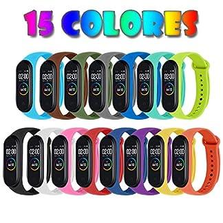 [Compatible con Xiaomi Mi Smart Band 4] 15 Piezas Correas para Xiaomi Mi Band 3 / Mi Smart Band 4 Pulseras Reloj Silicona Banda Reemplazo – 15 Colores