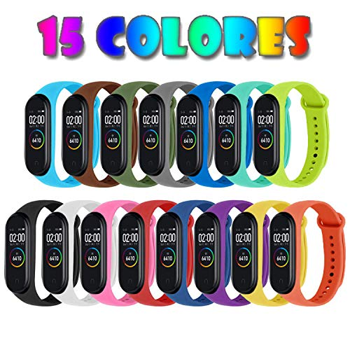 [Compatible Xiaomi Mi Smart Band 4] 15 Piezas Correas