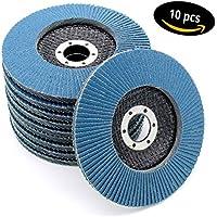 FDW Lot de 10disques abrasifs à lamelles, 125mm, grain 80