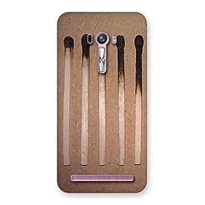 Burned Matchsticks Multicolor Back Case Cover for Zenfone Selfie