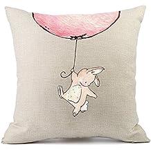 Schön Redland Art Kissenbezug Mit Mustern   Hase   Hochwertiges Leinen    Reißverschluss   Dekorativ Kinder Wohnzimmer