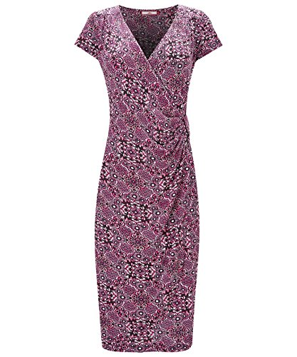 Joe Browns Womens Short Sleeve Marvellous Mosaic Jersey Wrap Dress Red 16