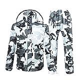 RUIX Regenmantel Regenanzug Anzug Erwachsene Split Männer und Frauen Reiten Dicke Wasserdichte Regenjacke,L