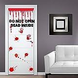 (Tür, Breite 70 cm) Vinyl-Aufkleber Don't Open-Dead Inside-Design/Blood Zoombie Hände Art Decor Wandtattoo/Wandaufkleber, Motiv