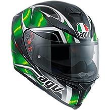 AGV Casco Moto K-5 S E2205 Multi plk Hurricane, Black/Green/