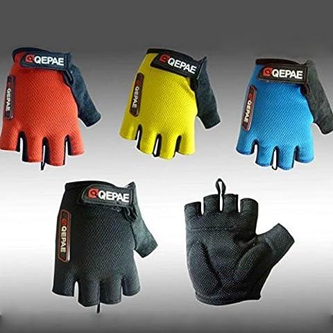 Bicicleta de la bici de Arsuxeo los hombres Guantes medio dedo guantes de equitacion guantes MTB mitones guantes -L