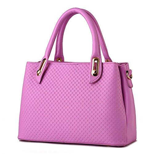 koson-man-womens-pu-leather-sling-vintage-zipper-tote-bags-top-handle-handbagpink