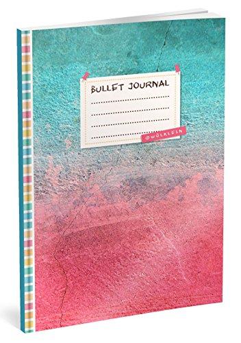 Bullet Journal: Punktraster Notizbuch (Ca. A5) + 100 Seiten + Vintage Softcover | TOP Motiv: Himmel und Hölle | Dot Grid Journal, Kalligraphie Übungsheft, Punktpapier +++ Jetzt mit Register +++ por Wölklein Designs