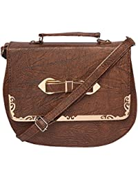 Brown Color Stylish Sling Bag Shoulder Bag Purse For Girls Women