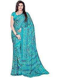 Aaradhya Fashion Crepe Saree (Afmoss-0154_Light Blue)