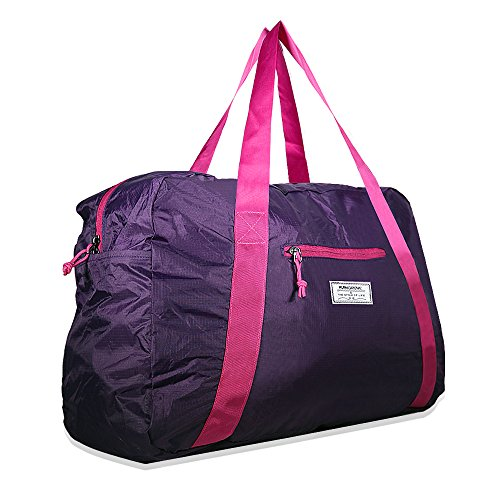 Mangrove Tasche, 53cm 46L Foldable Travel Duffel Bag 70D Anti-Tear Nylon Lightweight Sporttasche Gym Bag mit Hochwertigen SBS Zippers, Große Kapazität mit einem Fach und einer äußeren 3D Tasche (Faltbare Nylon Tasche)
