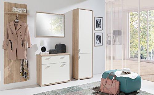 HomeDirectLTD Garderobenschrank Paula Möbel Garderobe Kleiderschrank Modernes Design Sonoma/Crem...