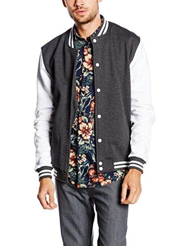 Urban Classics Herren Jacke Charcoal/White