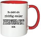 Mister Merchandise Kaffeetasse Becher So Sieht EIN richtig Cooler Physiotherapeut