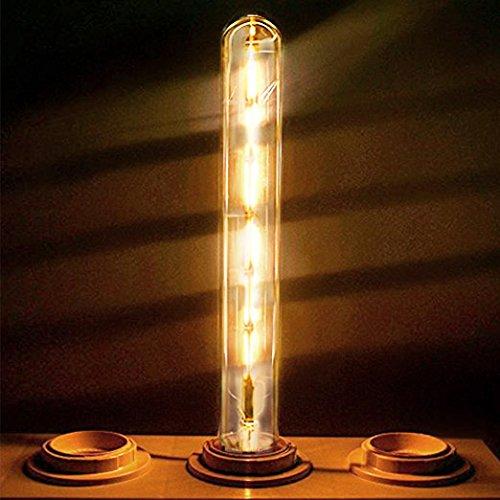 GreenSun LED Lighting LED Nostalgie E27 T30-300 LED Lampe 6W Entspricht 60W Glühlampe Retro Edison 220V Glühlampe Warmweiß Glühbirne Filament Fadenlampe Bulb Lampe Birne Leuchtmittel Dekorative Beleuchtung Dekolampe Dekoleuchte