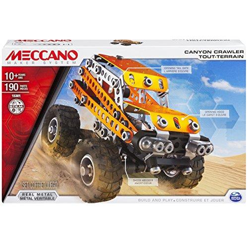 Meccano-6026719-Can-Crawler-Embalaje-Edificio-2-diferentes-modelos-de-vehculos-temtico-Off-Metal-Piezas