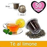 50 Capsule Tè Al Limone Compatibili Nespresso